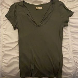 Green Hollister top